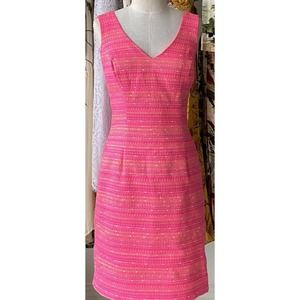 Lilly Pulitzer Laidley Pink Tweed Dress Size 0